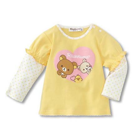 (購物車)魔法Baby ~全棉假兩件薄長袖T恤~童裝~k19216