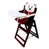 Mother's love 蘋果熊木製餐椅/餐桌椅(咖啡)