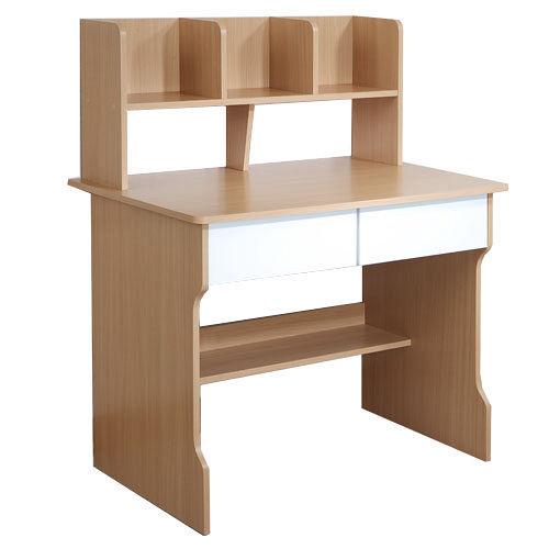 ~乖乖牌~木紋色雙抽層架學生書桌