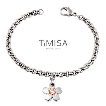 【TiMISA】櫻花之戀(三色可選) 純鈦手鍊(S)