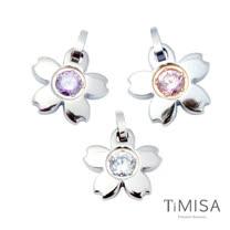 【TiMISA】櫻花(M) 純鈦墜飾(3色可選)