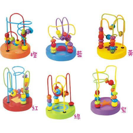 Classic world 客來喜-德國經典木玩 迷您撥珠 一盒6入 幼兒益智玩具