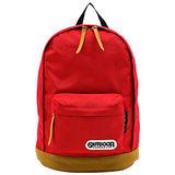 OUTDOOR 經典復古學院後背包-紅色OD405ERD