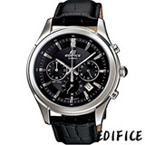 CASIO EDIFICE 都會紳士 計時腕錶-(EFR-517L-1)黑色