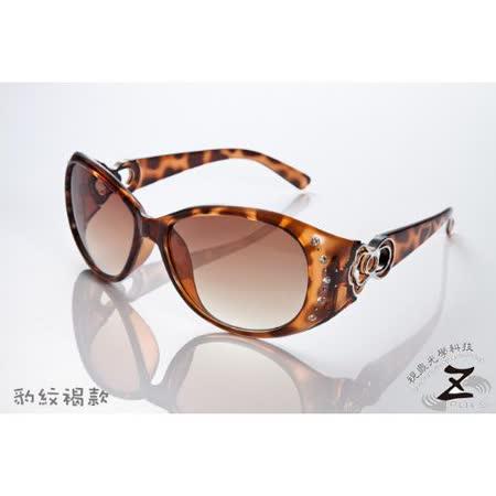 ※視鼎Z-POLS品牌時尚設計流行新款※◇雜誌大推薦 造型圖騰鑲鑽質感設計 UV400 採用PC防爆安全鏡片太陽眼鏡 (兩色)
