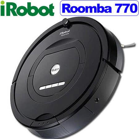 【全台最新2016/4/6製造 03版軟體】美國iRobot第7代Roomba 770 黑色鋼琴烤漆 黃金級機器人掃地吸塵器 最新變壓充電座合體版