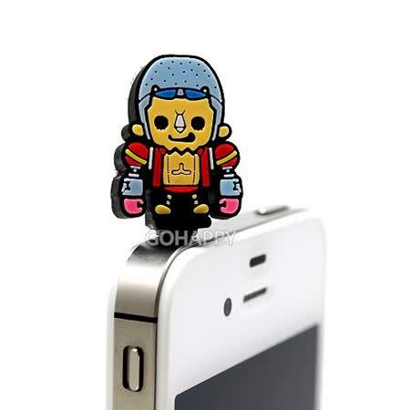 日本進口航海王【弗朗基】iphone4/4S音源孔防塵塞
