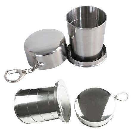 【遠銀】PUSH! 旅遊用品 可折疊攜帶(大杯)不鏽鋼杯