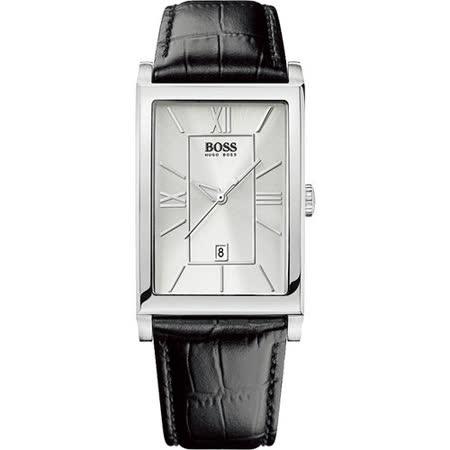 Hugo Boss 德意志風簡約腕錶(H1512384)-銀/黑