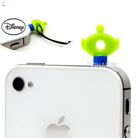 日本進口Disney【俏皮三眼怪】iphone音源孔吊飾防塵塞