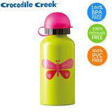 Crocodile Creek環保兒童不鏽鋼水瓶(美麗蝴蝶)