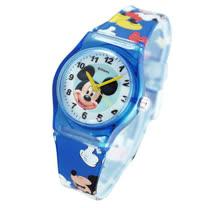Disney活力米奇圖案藍色膠帶卡通錶