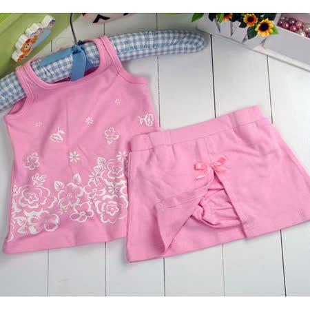 (購物車)魔法Baby~美國卡特士女童夏季裙褲套裝~k00194-粉