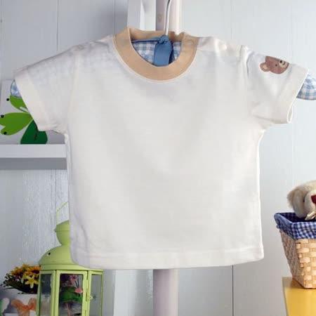 (購物車)魔法Baby~純棉白色T恤~時尚設計童裝~k00316