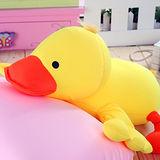 可愛黃小鴨立體動物造型抱枕(顆粒)☆c0024