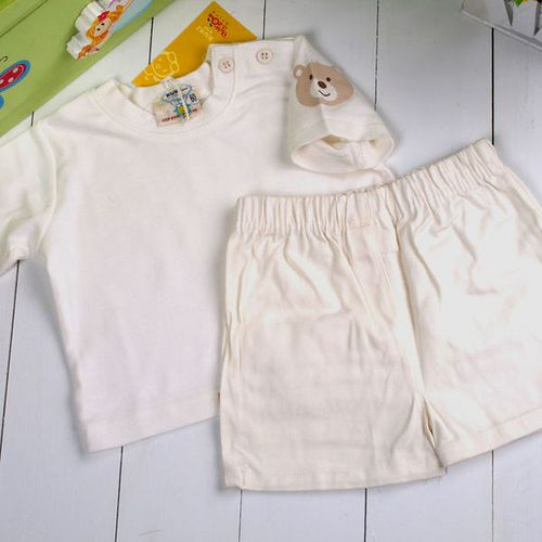 ^( 車^)魔法Baby^~短袖肩開釦上衣 牛仔布外出短褲套裝^~k01146