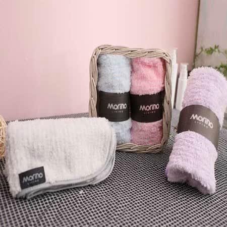 任選【MORINO】超細纖維粉彩條方巾