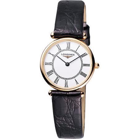 LONGINES 浪琴嘉嵐系列18K金超薄女錶(L41918110)