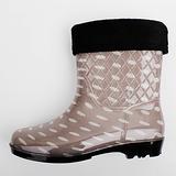 韓系雨鞋 - 可愛小雨滴短筒雨鞋 (附贈棉套) 四季都可穿
