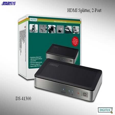 曜兆DIGITUS HDMI一進二出分配器