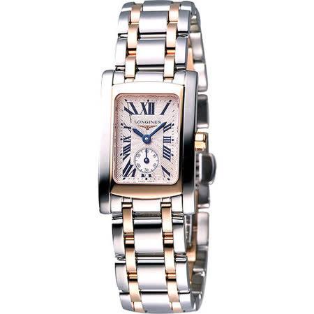 LONGINES DolceVita 獨立小秒針18K半金女錶(L51555717)