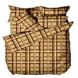 《格韻夢想》100%純棉加大四件式床包被套組(台灣製)
