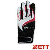 【ZETT】全新打擊手套 BBGT-366 黑/紅(單只)