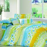 《彩虹》雙人加大四件式舖棉兩用被床包組