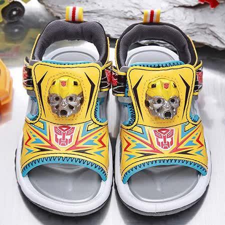 【童鞋城堡】變形金剛大黃蜂3D立體LED電燈運動涼鞋{台灣製造}TF3230