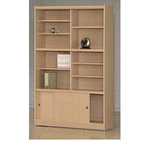 STYLEHOUSE書櫃(B46- 11格書櫃含拉門、玻璃門)免組裝傢俱