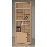 STYLEHOUSE書櫃(B47- 12格書櫃含拉門、玻璃門)免組裝傢俱