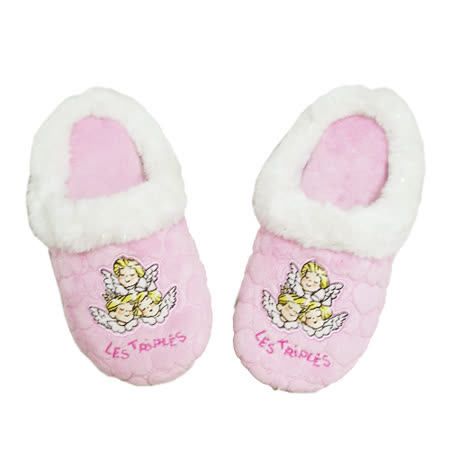 【三寶貝】三寶貝絨布繡花包頭拖鞋-兩雙一組