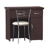 【優利亞-簡約掀鏡式】2.7尺化妝台+椅(3色可選)