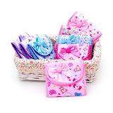 可愛的❤布質蝴蝶結三折衛生棉包/