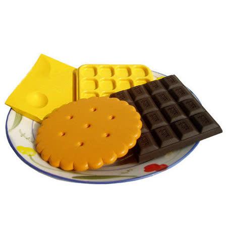 立體餅乾及巧克力及鬆餅及起司造型隔熱杯墊