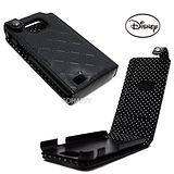 日本進口Disney珍珠光【米奇浮雕印花】Samsung Galaxy S2 i9100蓋式手機皮套-晶鑽黑