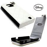 日本進口Disney珍珠光【米奇浮雕印花】Samsung Galaxy S2 i9100蓋式手機皮套-奢華白