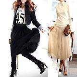 【韓系女衫】長擺紗裙 2層紗裙百種風情 一件展現