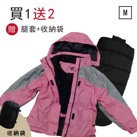 【OutdoorBase】二合一防風耐寒成衣睡袋(女用)45358