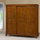 《Homelike》亞倫7x7尺實木衣櫥