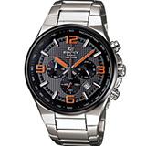 CASIO EDIFICE 賽車風格 計時腕錶-(EFR-515D-1A4)橘色刻度