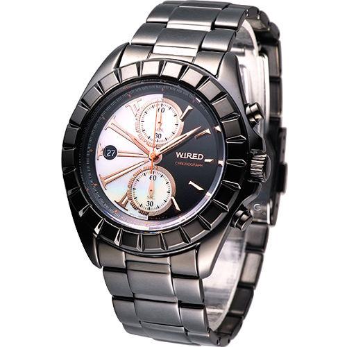ALBA WIRED「TWO FACE」都會雙面遊俠 計時腕錶-(7T92-0BP0W)限量款AGAV758