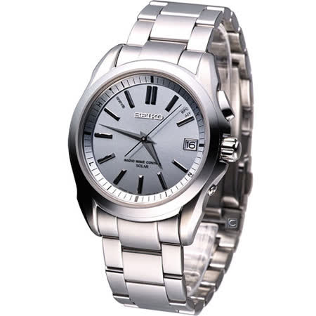 SEIKO BRIGHTZ系列 太陽能電波腕錶(7B24-0AK0S)灰色SAGZ053J