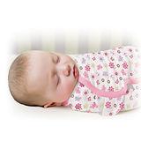 美國 Summer Infant SwaddleMe【純棉薄款 - 蝴蝶花朵】, 小號 - 可調式懶人包巾