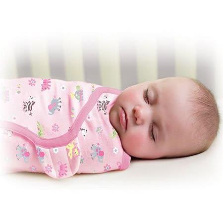美國 Summer Infant SwaddleMe【純棉薄款 - 粉紅動物園】, 小號 - 可調式懶人包巾