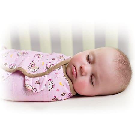 美國 Summer Infant SwaddleMe【純棉薄款 - 親親小猴】, 小號 - 可調式懶人包巾