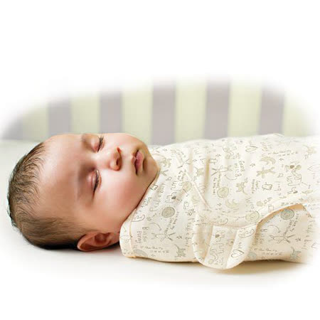 美國 Summer Infant SwaddleMe 懶人嬰兒包巾【有機棉薄款-小兔子】, 小號 - 可調式懶人包巾