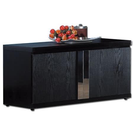 《艾瑞克》2.7尺黑色座鞋櫃 (27654)