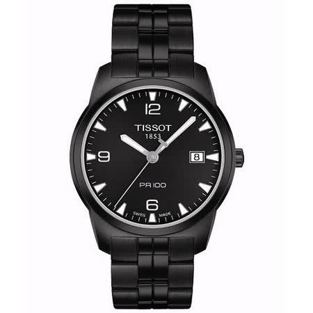 TISSOT PR100 瑞士時尚腕錶(T0494103305700)-IP黑