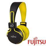 富士通 TH-11 智慧型手機用耳罩式耳機麥克風【黃色】